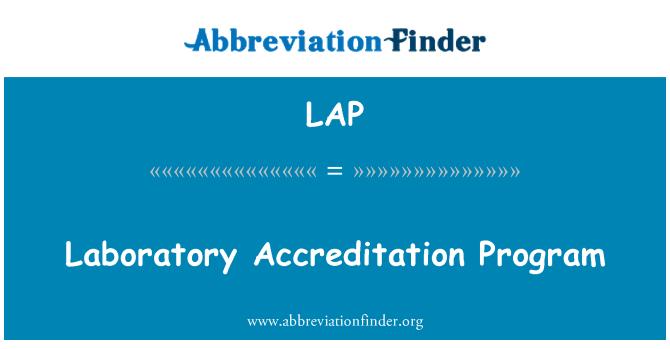 LAP: Laboratory Accreditation Program
