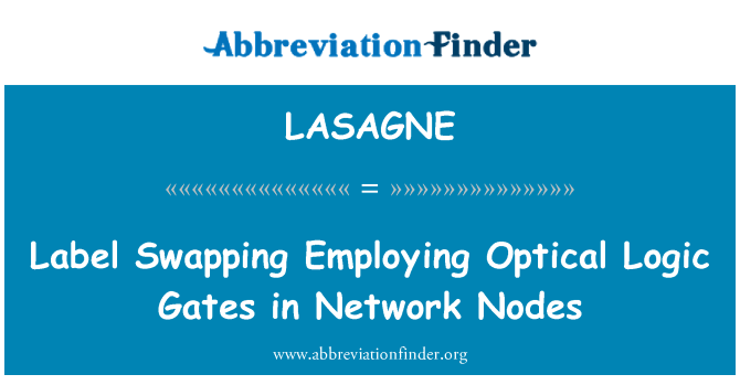 LASAGNE: Label Swapping Employing Optical Logic Gates in Network Nodes