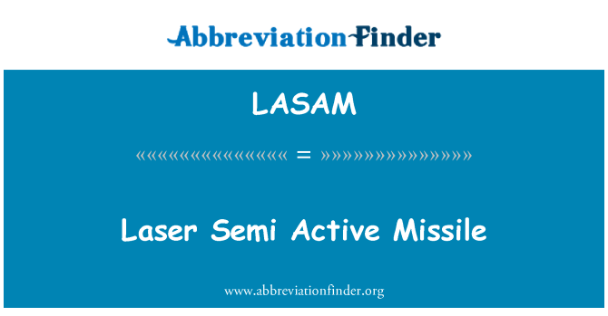 LASAM: 激光半主动导弹