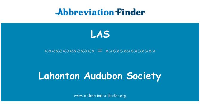 LAS: Lahonton Audubon Society