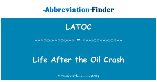 LATOC: 石油崩盘后的生活