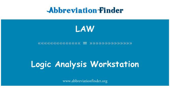LAW: Logic Analysis Workstation