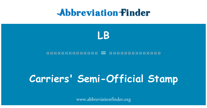 LB: Carriers' Semi-Official Stamp