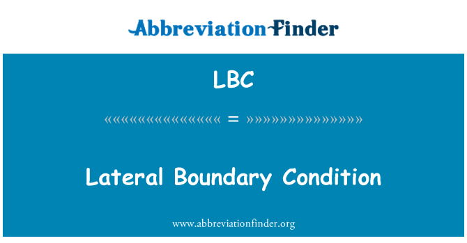 LBC: Lateral Boundary Condition
