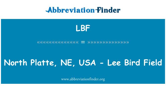 LBF: North Platte, NE, USA - Lee Bird Field