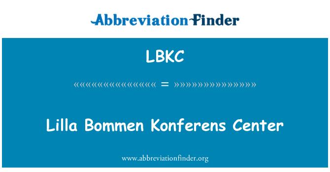 LBKC: Lilla Bommen Konferens Center