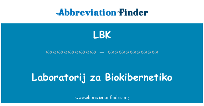 LBK: Laboratorij za Biokibernetiko