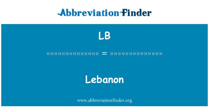 LB: Lebanon