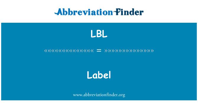 LBL: Label