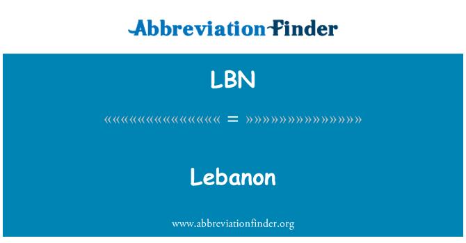 LBN: Lebanon