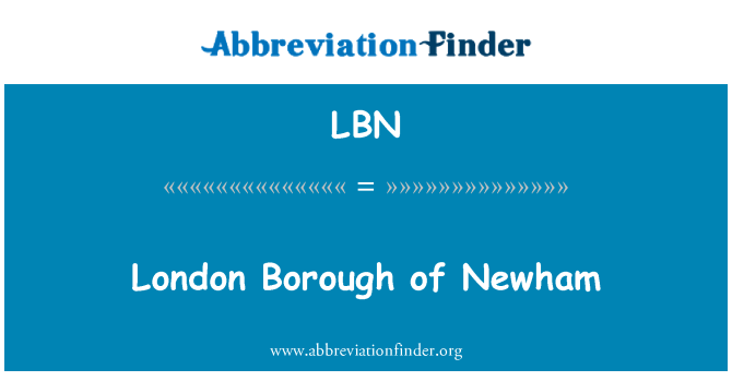 LBN: London Borough of Newham