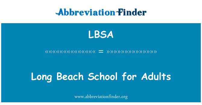 LBSA: Long Beach School for Adults