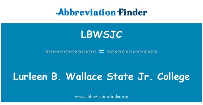 LBWSJC: Lurlen B. Wallace Jr. fakultet
