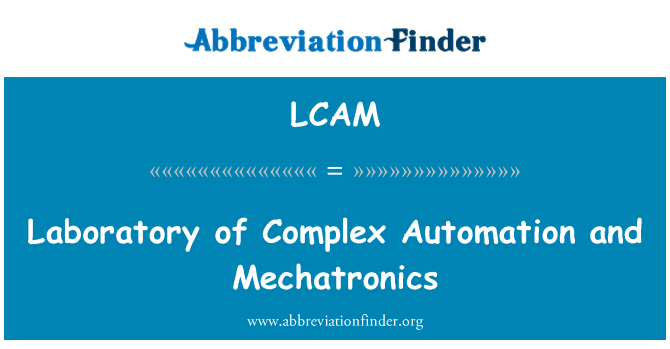 LCAM: Laboratory of Complex Automation and Mechatronics
