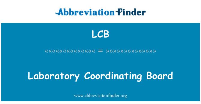 LCB: Laboratory Coordinating Board