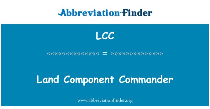 LCC: Land Component Commander