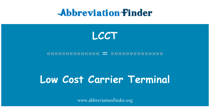 LCCT: Low Cost Carrier Terminal