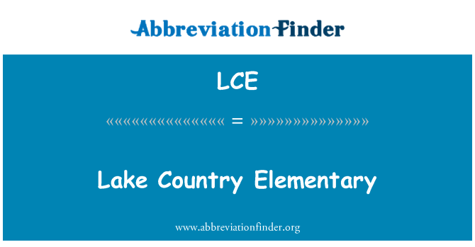 LCE: Lake Country Elementary