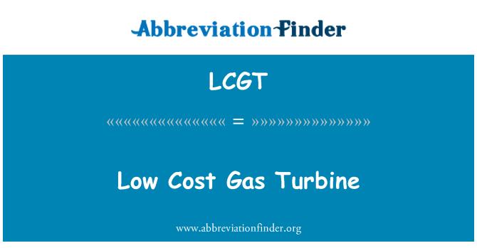LCGT: Low Cost Gas Turbine