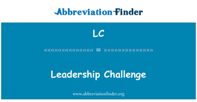 LC: Leadership Challenge
