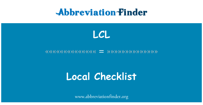 LCL: Local Checklist