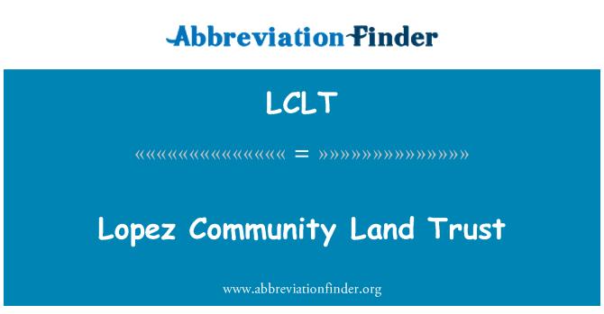 LCLT: Lopez Community Land Trust