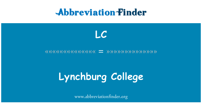 LC: Lynchburg College