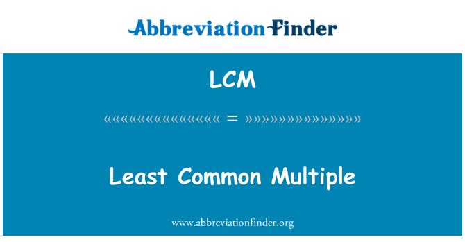 LCM: Least Common Multiple