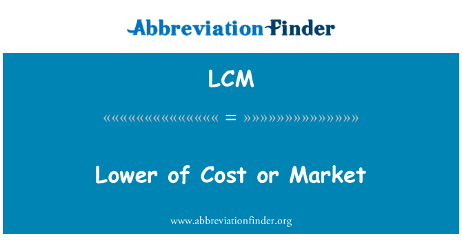 LCM: Lower of Cost or Market