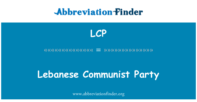 LCP: Lebanese Communist Party