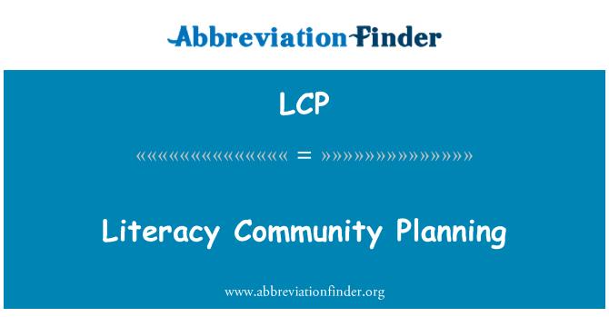 LCP: Literacy Community Planning