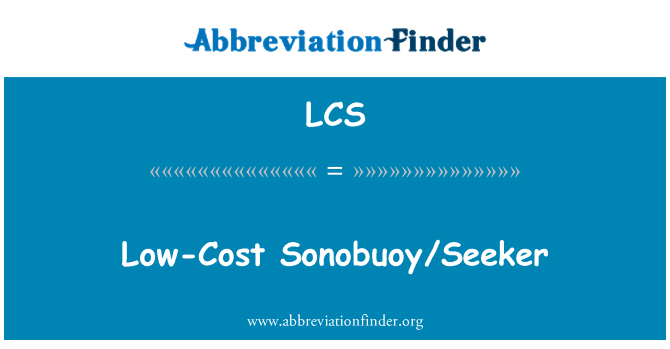 LCS: Low-Cost Sonobuoy/Seeker