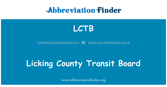 LCTB: Licking County Transit Board