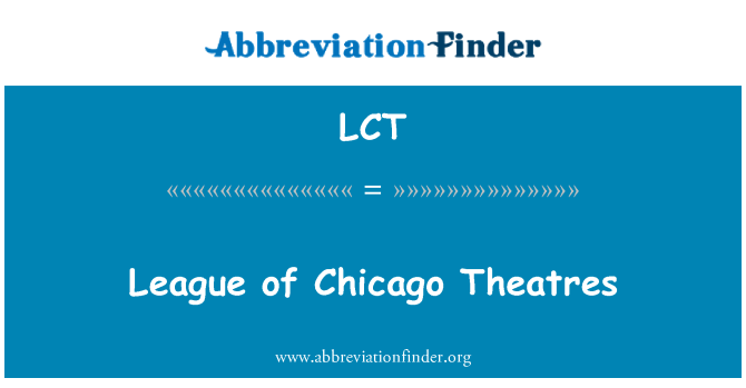 LCT: League of Chicago Theatres