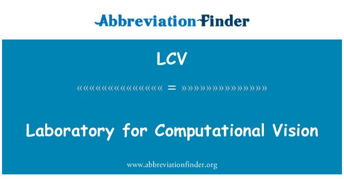 LCV: Laboratory for Computational Vision