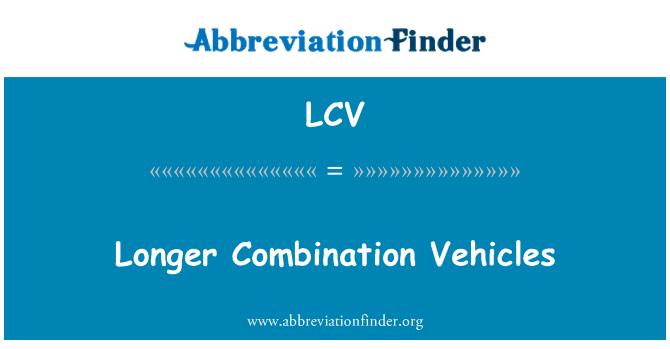 LCV: Longer Combination Vehicles