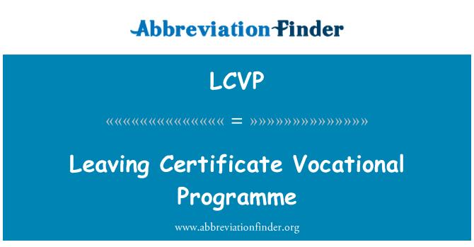 LCVP: Leaving Certificate Vocational Programme