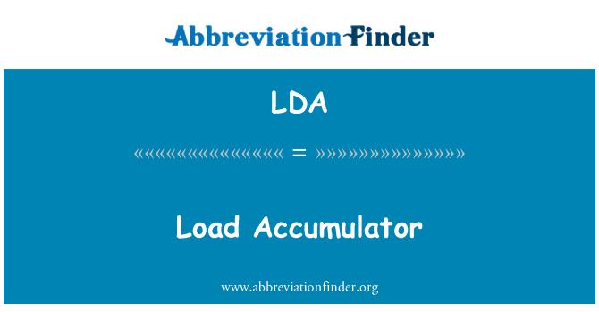 LDA: Load Accumulator
