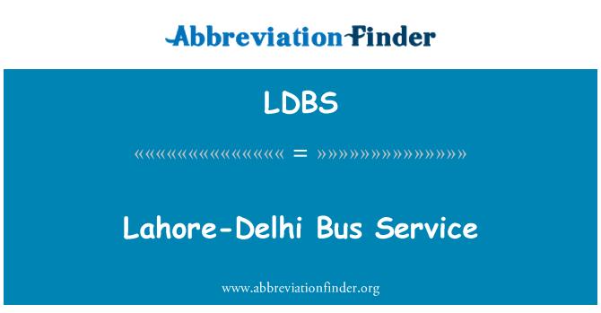 LDBS: Lahore-Delhi Bus Service