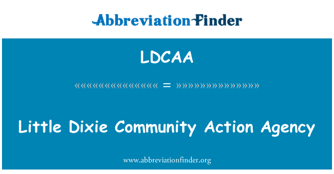 LDCAA: Little Dixie Community Action Agency