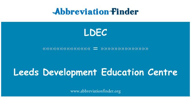 LDEC: Leeds geliştirme Eğitim Merkezi
