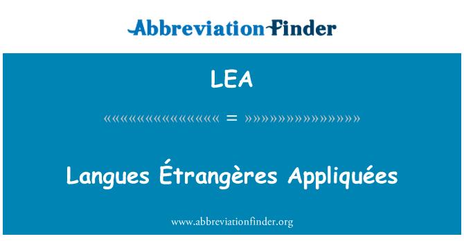 LEA: Langues Étrangères Appliquées