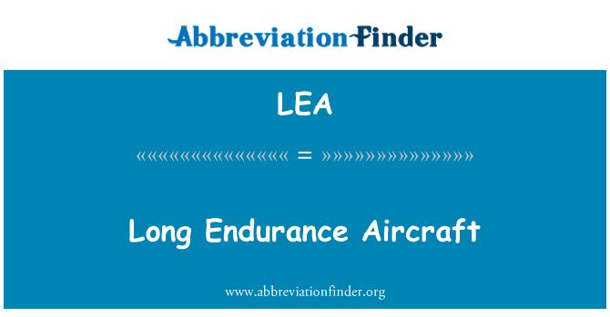 LEA: Long Endurance Aircraft