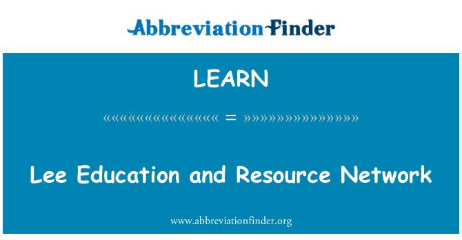 LEARN: Lee eğitim ve kaynak ağ