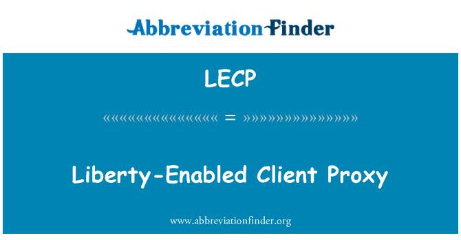 LECP: Liberty lubatud kliendi puhverserveri