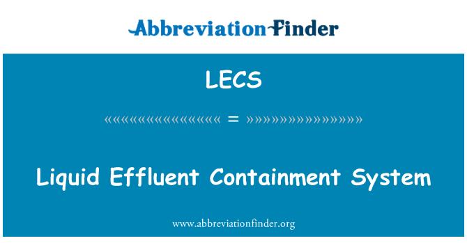 LECS: Sıvı atık koruma sistemi