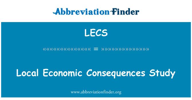 LECS: Yerel ekonomik sonuçları çalışma
