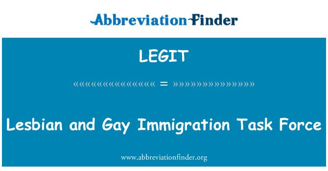 LEGIT: Lesbiana y Gay Immigration Task Force