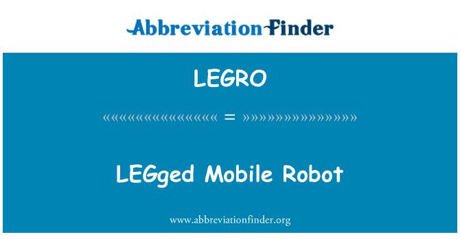 LEGRO: LEGged Mobile Robot