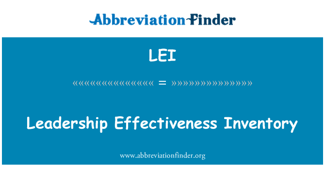 LEI: Leadership Effectiveness Inventory